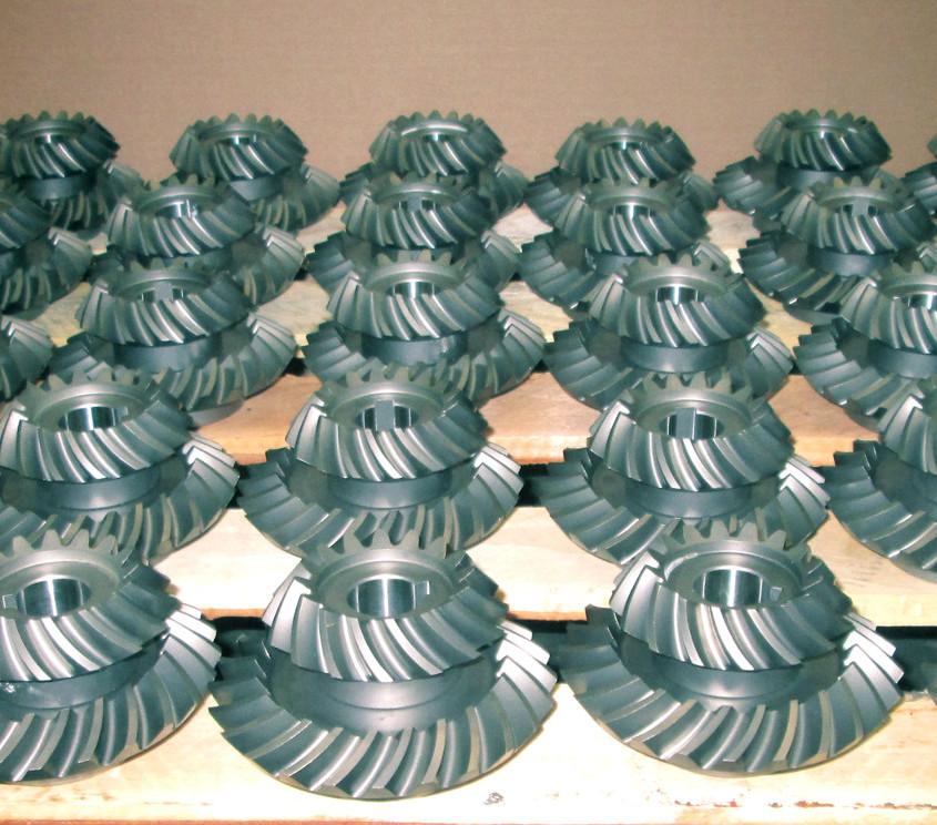 production d'engrenages sur stock